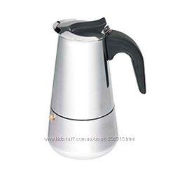 Кофеварка гейзерная стальная