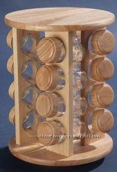 Набор для специй на деревянной подставке А-РИ