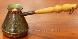 Кофеварки медные с деревянной ручкой О-С