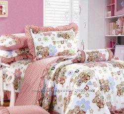 Постельный комплект в детскую кроватку сатин Турция