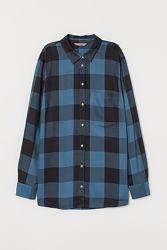 Рубашка в клетку h&m, 3 вида