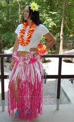 Гавайская атрибутика, гавайские леи, лейсы, браслеты, заколки, гавайские юбки
