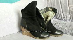 Ботинки женские кожа на цигейки р. 37