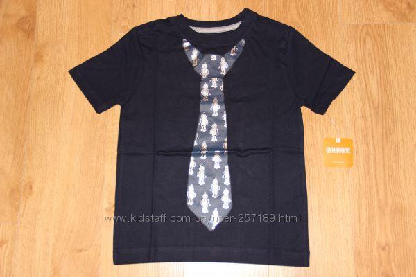 Детская футболка Gymboree мальчику S, 5-6 лет футболка с галстуком