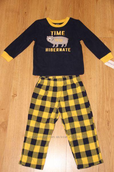 Флисовая пижама мальчику Carters 2т.