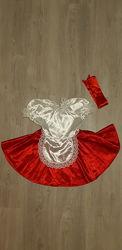 прокат карнавальный костюм платье Красной шапочки