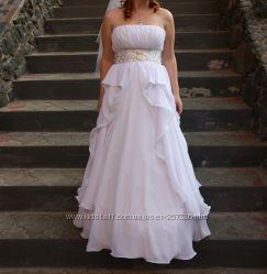 Нежное свадебное платье в стиле ампир. Подходит для беременной