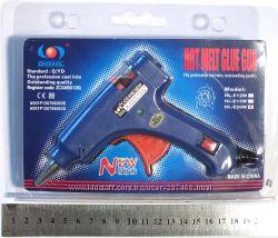 Клеевой пистолет HL-E20W для рукоделия под стержни 7 мм.