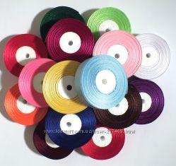 Ленты атласные сатин 25 мм. х 30 м. цвета в ассортименте
