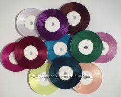 Ленты атласные сатин 5 мм. х 33 м. цвета в ассортименте