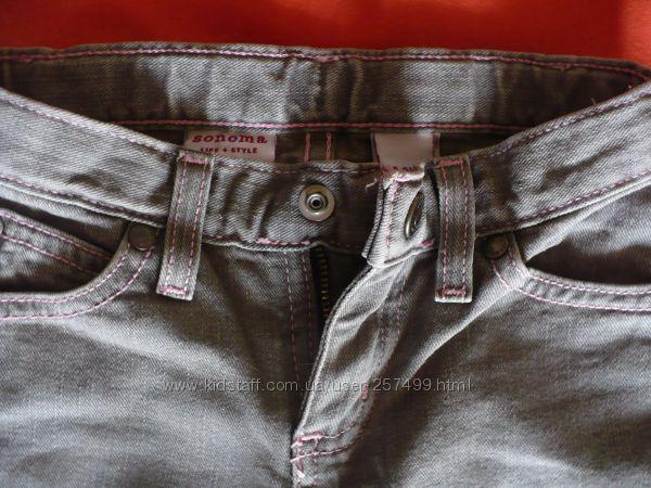Фирменные джинсы Sonoma для девочки 4-5 лет