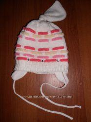 Зимняя шапка для девочки или двойняшек