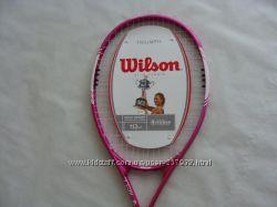 Теннисная ракетка WILSON TRIUMPH Гриф 4 14 с Натянутыми струнами.