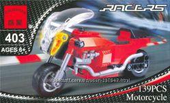 конструктор Brick Гоночный мотоцикл Набор из 3-х конструкторов