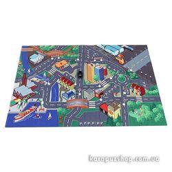 игровой коврик Город Majorette Франция с машинкой и знаками 100 x 140 см