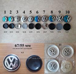 Заглушки в литые диски колпачки в диски Volkswagen VW