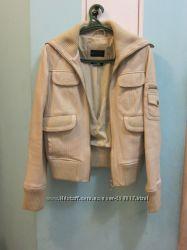 Модный кожаный бомбер MANGO на 42-44 р. оригинал из Франции