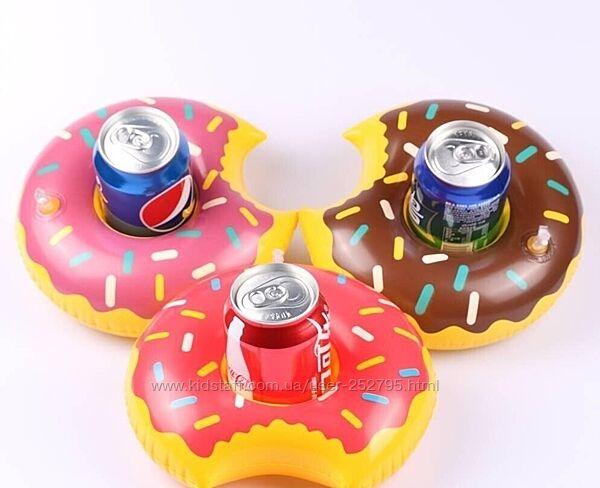 Подстаканник надувной пончик два цвета