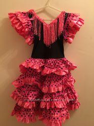 испанское карнавальное  платье для девочки 6-12 лет