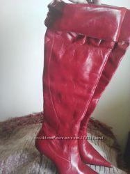 ботфорты кожанные, 39 размер