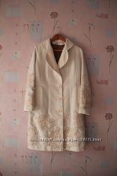 Пальто кашемир осень вышивка