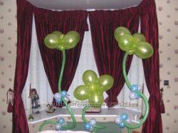 Букеты из воздушных шариков, цветы, фигуры из воздушных шаров Киев