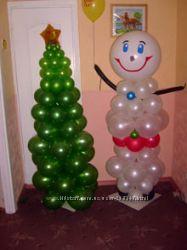 Оформление Нового года воздушными шарами Киев
