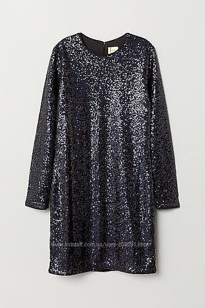 Платье в пайетках Н&M праздничное