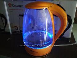 Электрический чайник стекло, електрочайник скло, Лед подсветка.