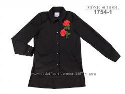 Стильная черная рубашка ТМ Моне р. 134, 152
