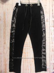 Трикотажные брюки с пайеткой ТМ Моне р. 122, 128, 134, 140