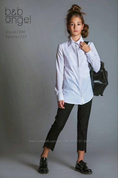 Нарядная школьная белая блузка Angel р. 128, 134, 146