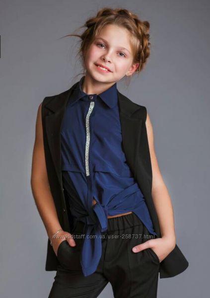 Стильная синяя блузка р.128 B&B Angel