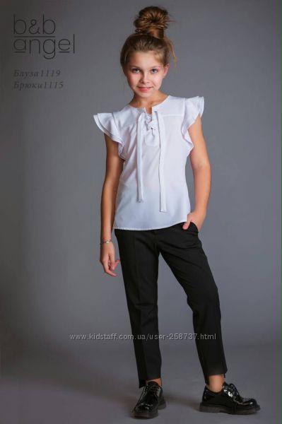 Белая блузка короткий рукав р. 122 B&B Angel