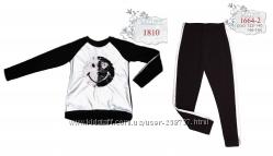 Утеплённые трикотажные костюмы с пайеткой - большой выбор р. 110 - р. 152