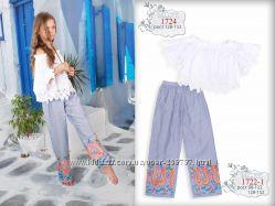 Летние хлопковые брюки ТМ Моне р. 128, 134, 140, 146