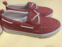 Фирменные слипоны мокасины текстильные туфли, новые