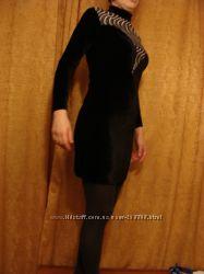Платье вечернее велюр бархат размер наш 44, евр 38 S M D&G Китай