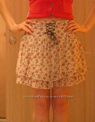 Шифоновая юбка Jennyfer два яруса S, M