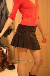 Кокетливая вельветовая юбка - зима, весна, осень