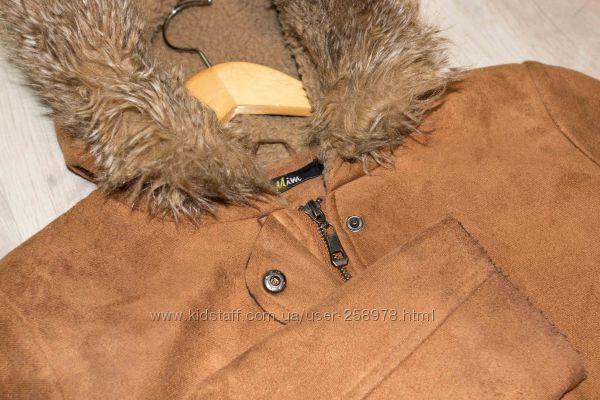 Осенняя куртка, пальто на легкой овчине XS, 36