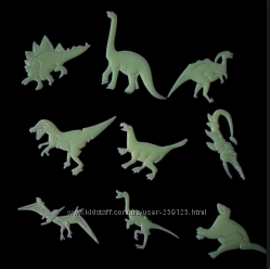 Настенные декорации флюоресцентные - динозавры