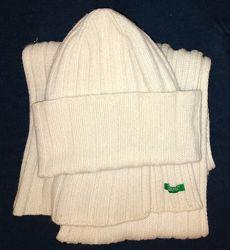 Шапка и шарф бенеттон benetton шапка 44 см