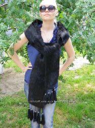 шикарный меховый шарф палантин накидка