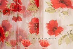Тюли с цветами разные расцветки