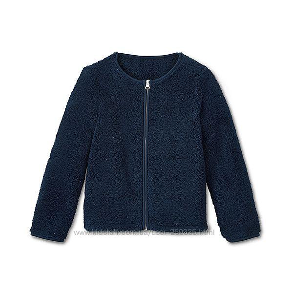 Плюшевая куртка, кофта TCM Tchibo р. 122-128