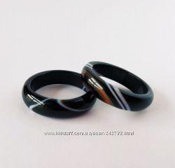 кольцо из натурального глазкового агата магия камня