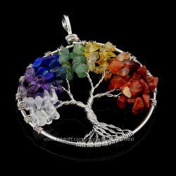 подвеска из самоцветов дерево 7 чакр