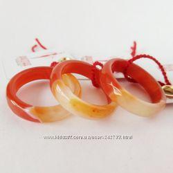 Кольцо из оранжевого агата