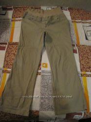 Комфортные брюки для беременных из микровельвета